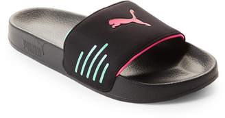 Puma Black Leadcat Chase Slide Sandals