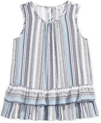Monteau Stripe Peplum Ruffle Shirt, Big Girls (7-16) $28 thestylecure.com