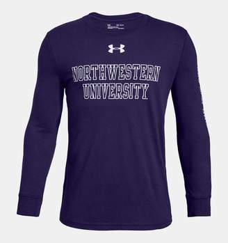 Under Armour Boys' UA Cotton Collegiate Long Sleeve Shirt