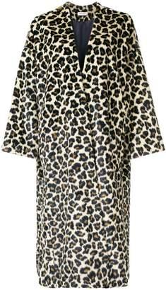 Masscob long leopard print coat