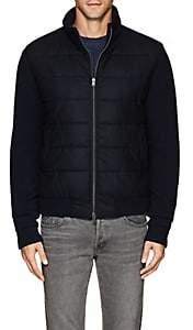 Herno Men's Virgin Wool Bomber Jacket - Navy