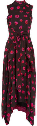 Proenza Schouler - Printed Georgette Dress - Black $1,750 thestylecure.com