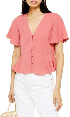 Topshop Meghan Button-Down Top