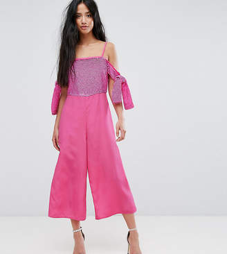 Asos Embellished Cold Shoulder Jumpsuit