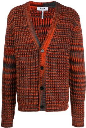 MSGM waffle knit cardigan