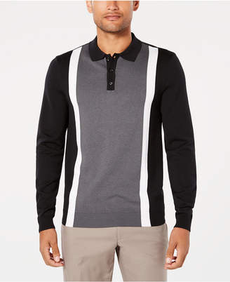 Ryan Seacrest Distinction Men's Colorblocked Stripe Polo, Created for Macy's