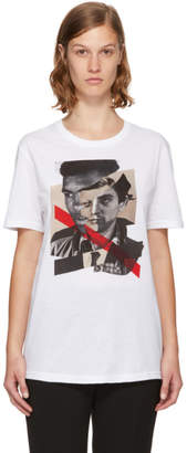 Neil Barrett White Freedom Fighters Hybrid T-Shirt