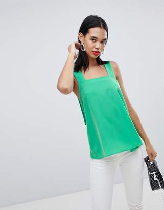 Weekday apron top in green