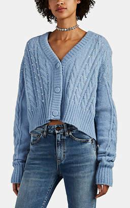 Philosophy di Lorenzo Serafini Women's Crystal-Embellished Cable-Knit Cardigan - Lt. Blue