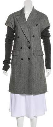 Elizabeth and James Wool Herringbone Coat