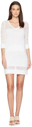 Moschino Stretch Viscose Dress with Sheer Detailing Women's Dress