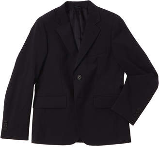 Brooks Brothers Boys' Navy Pinstripe Wool Suit Jacket