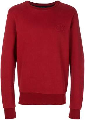 Calvin Klein Jeans long-sleeve fitted sweatshirt