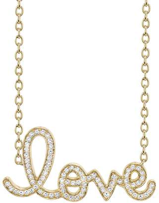 Sydney Evan Extra Large Diamond Pavé Love Necklace - Yellow Gold