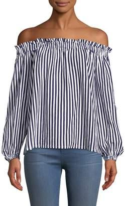 MDS Stripes Women's Lauren Stripes Cotton Top