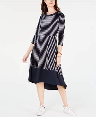 c3184893c76d Tommy Hilfiger Striped Pullover Maxi Dress