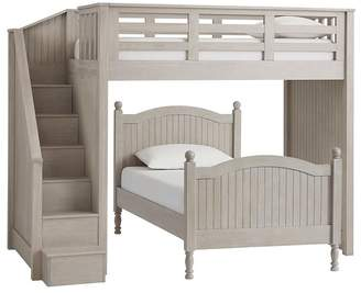 Pottery Barn Kids Twin Stair Loft & Lower Bed Set