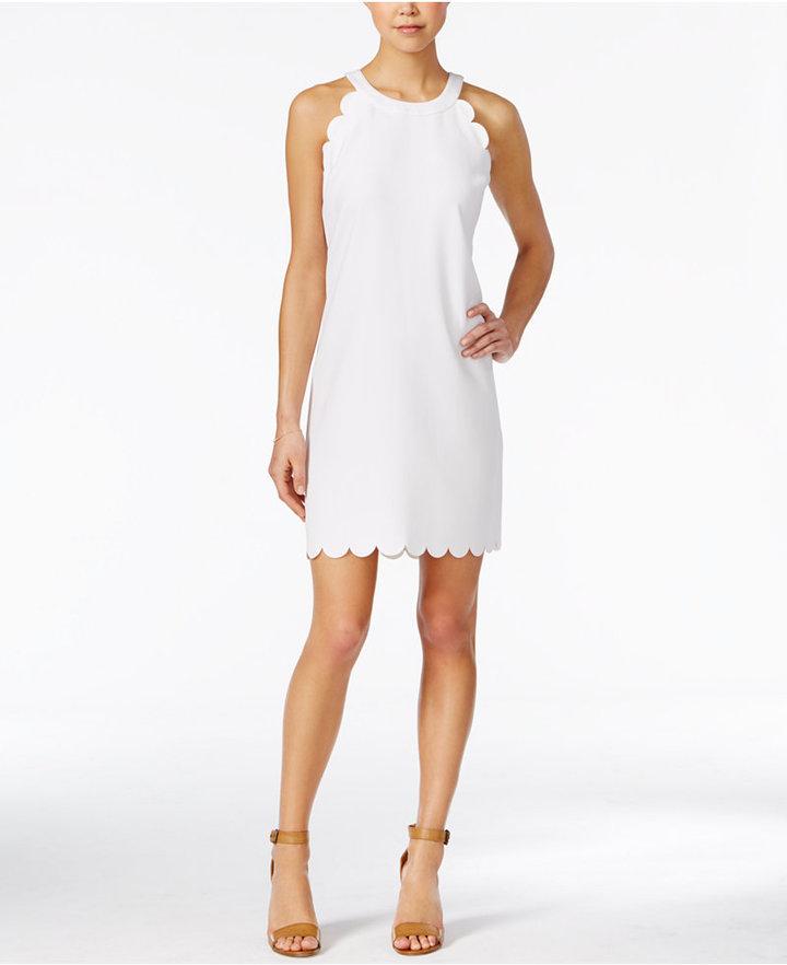 Maison Jules Scalloped Shift Dress, Only at Macy's