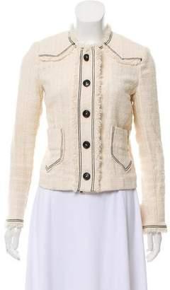 Etoile Isabel Marant Collarless Tweed Blazer