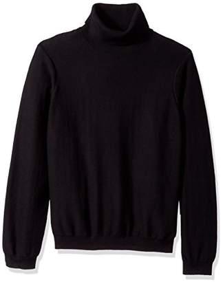 GUESS Men's Long Sleeve Reverse Jersey Turtleneck Sweater