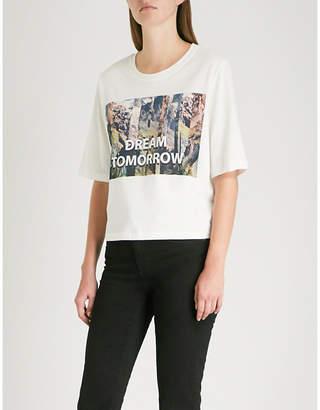 Maje Talweg printed cotton-jersey T-shirt