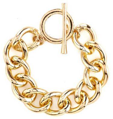 Charlotte Russe Chain Link Toggle Bracelet