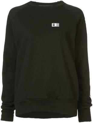 Baja East print sleeve sweatshirt
