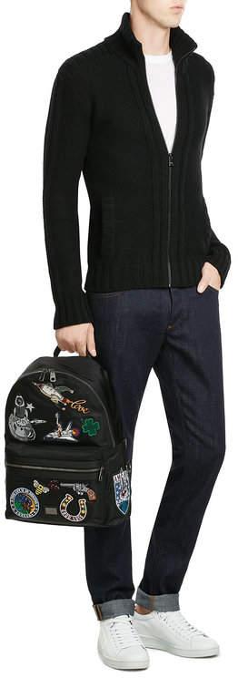 Dolce & Gabbana Cashmere Zip Front Cardigan