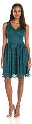 Julian Taylor Women's Sleeveless Lace V Neck Dress