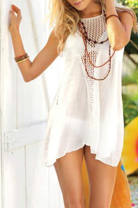 Elan International Sleeveless crochet dress