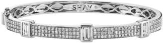 Shay Jewelry Baguette Diamond Bezel Bangle