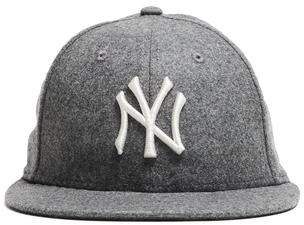 Todd Snyder + New Era Exclusive NY Yankees Hat In Italian Barberis Grey Wool Flannel
