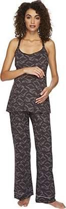 Cosabella Women's Bella Maternity Print Amore Print Cam Pants Black PJ Gift