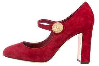 Dolce & Gabbana Mary Jane Suede Pumps
