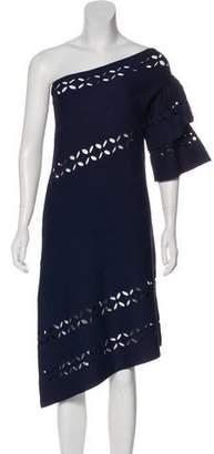 Self-Portrait One-Shoulder Knee-Length Dress