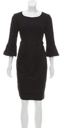 Burberry Wool-Angora Knee-Length Dress