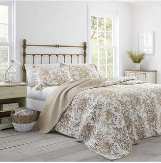 Laura Ashley Full/Queen Bedford Quilt Set Bedding