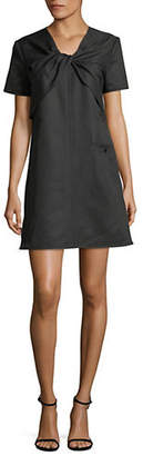 Carven Short-Sleeved Tied Dress