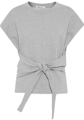 Alexander Wang Tie-Front French Cotton-Terry Top