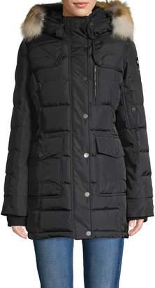 Pajar Serena Fox Fur Trim Down Puff Coat
