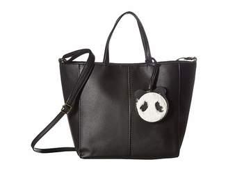T-Shirt & Jeans Tote with Plush Panda Dangle Tote Handbags