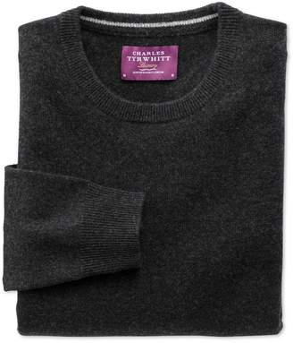 Charles Tyrwhitt Charcoal Cashmere Crew Neck Sweater Size Large