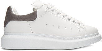 ALEXANDER MCQUEEN Raised-sole low-top leather trainers $375 thestylecure.com