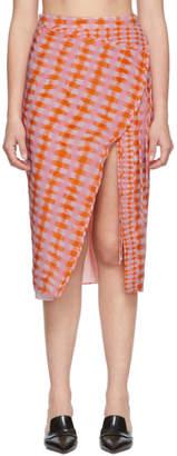 Altuzarra Orange Wrap Skirt