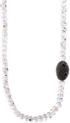 Bavna Moonstone & Black Spinel Necklace