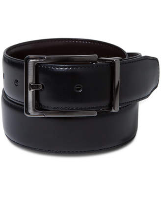 Perry Ellis Portfolio Men Leather Dress Reversible Belt