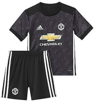 adidas Kids Manchester United Away Mini Kit 2017 2018 Climalite Football