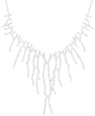 Monica Vinader Rose Gold Vermeil Riva Waterfall Cocktail Diamond Necklace