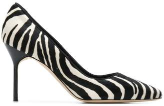 Manolo Blahnik BB zebra print pumps