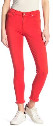 7 For All Mankind Fray Ankle Skinny Jeans